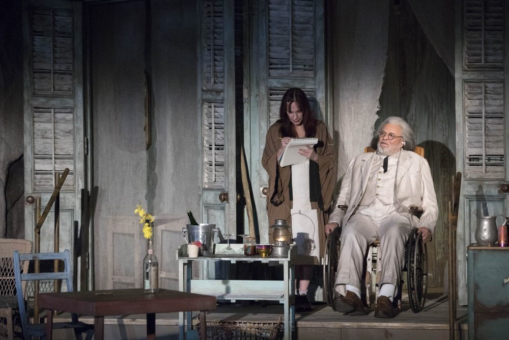 "Amanda Plummer as Hannah Jelkes and James Earl Jones as Nonno in ""The Night of the Iguana."" (Courtesy Gretjen Helene Photography/A.R.T.)"
