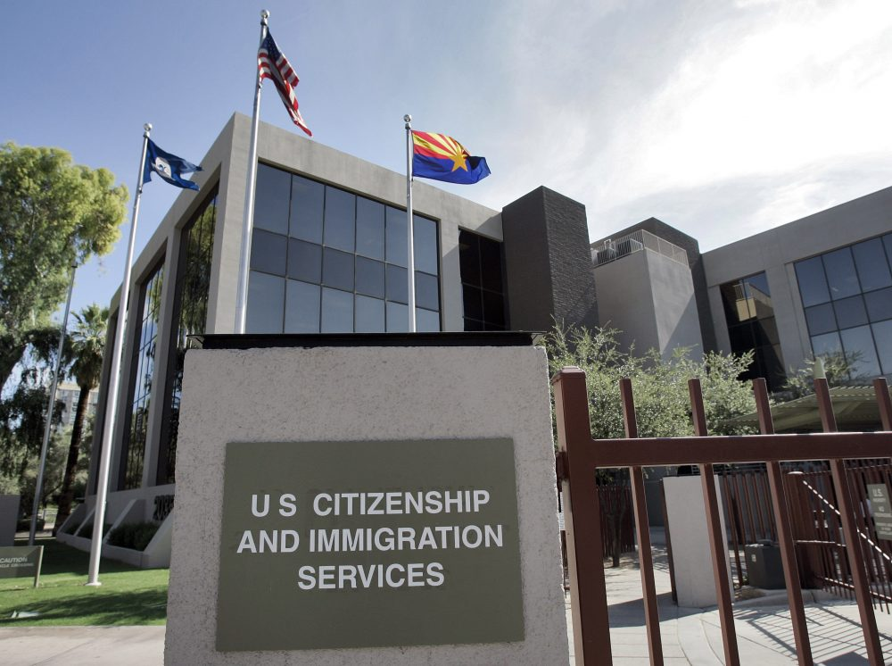 The U.S. Citizenship and Immigration Services building Phoenix. (Matt York/AP File)