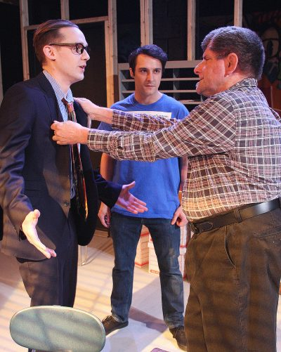 Matthew Fagerberg as Ricky, Johnny Quinones as Luce and Robert Bonotto as Arnold. (Courtesy Richard Hall/Silverline Images)