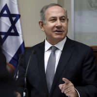 Israeli Prime Minister Benjamin Netanyahu chairs the weekly cabinet meeting in Jerusalem. (Gali Tibbon/AP)