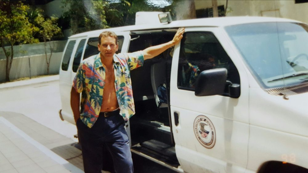 Albert Orlowski, retired ICE agent, seen on a detail in Miami in 2001. (Courtesy)