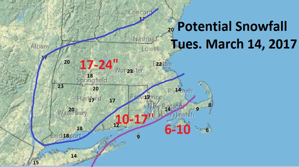 MA braces for up to 2 feet of snow, high winds