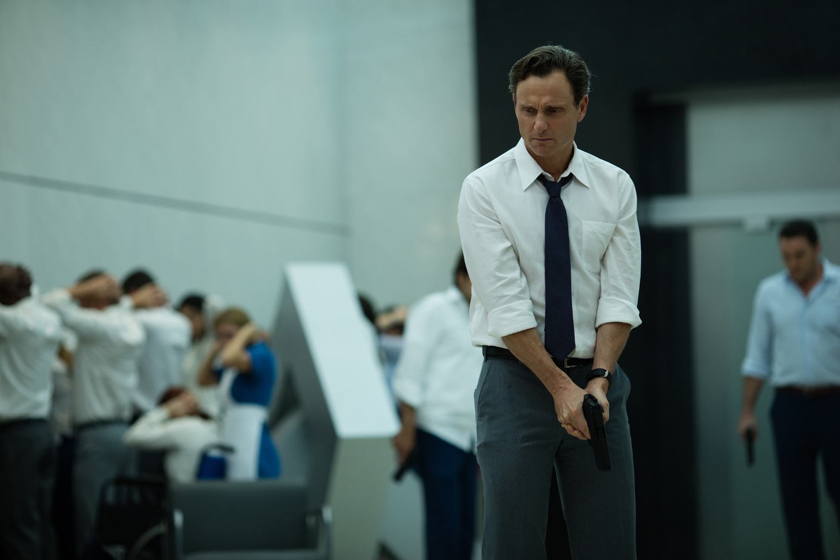 "Tony Goldwyn stars as Barry Norris in ""The Belko Experiment."" (Courtesy Hector Alvarez)"