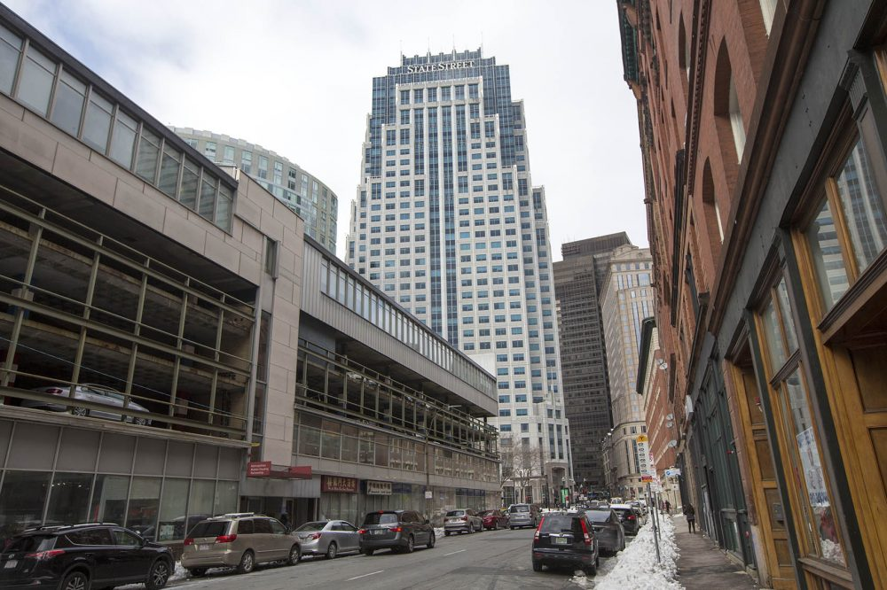 The State Street building in downtown Boston (Jesse Costa/WBUR)
