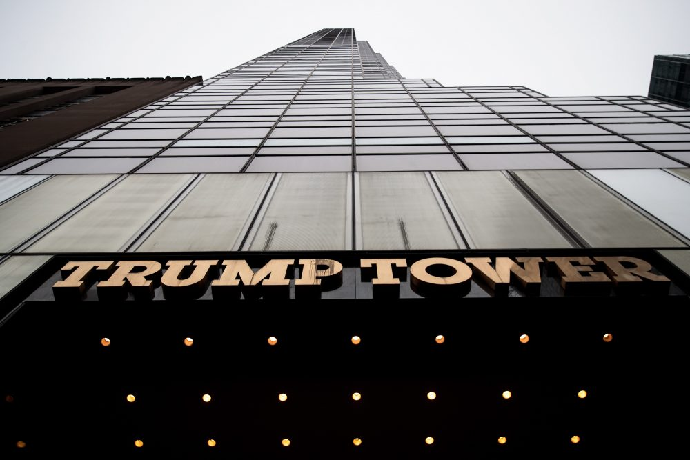 A view of Trump Tower, March 7, 2017 in New York. President Donald Trump accused former President Barack Obama of ordering wiretapping at Trump Tower prior to the election. (Drew Angerer/Getty Images)