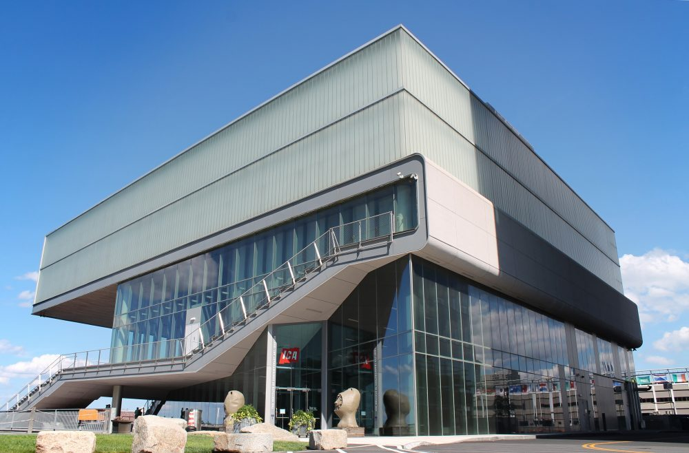 The Institute of Contemporary Art's Diller Scofidio + Renfro building in the Seaport. (Amy Gorel/WBUR)