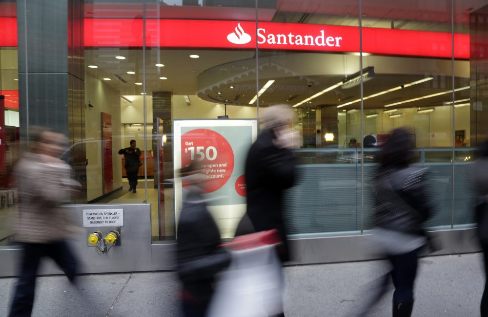Santander bank (Mark Lennihan/AP)
