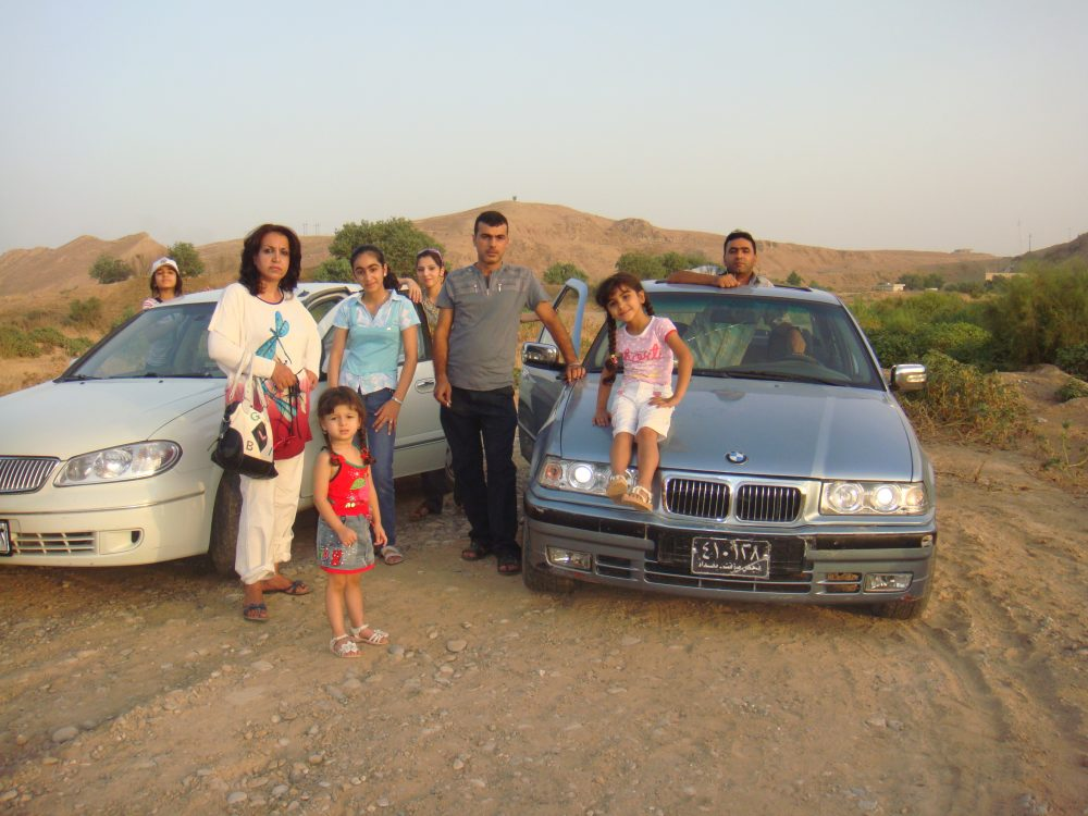 Labed Al-Hanfy and his family in 2010 (Courtesy of Labed Al-Hanfy)