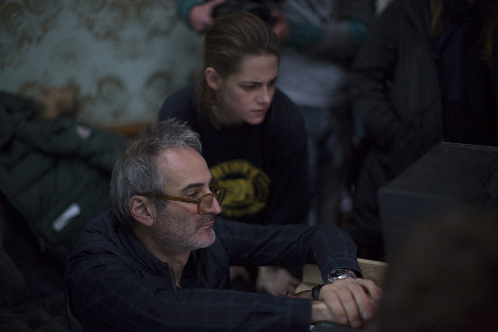 "Kristen Stewart and Olivier Assayas on the set of ""Personal Shopper."" (Courtesy IFC Films)"