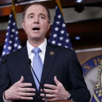 Rep. Adam Schiff, D-Calif., ranking member of the House Intelligence Committee, meets with reporters to discuss the process for investigating whether or how Russia influenced the presidential election. (J. Scott Applewhite/AP)