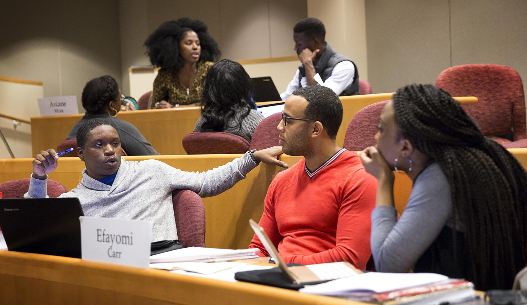Student Collaborative Conversations ~ Harvard business school looks to diversify its case