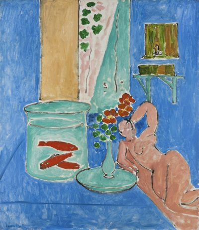 "Henri Matisse's 1912 oil painting ""Goldfish and Sculpture."" (Courtesy Museum of Fine Arts, Boston)"