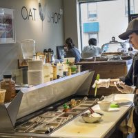 Love it or hate it, oatmeal can get a bad rap as a globby, bland breakfast food. Now Oat Shop in Somerville, the area's first oatmeal cafe, is joining a culinary wave to elevate and update porridge for the contemporary palette. (Andrea Shea/WBUR)