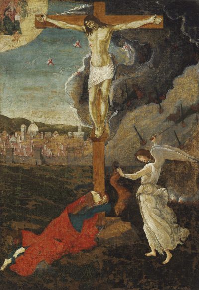 """Mystic Crucifixion,"" about 1500 (Courtesy Harvard Art Museums)"