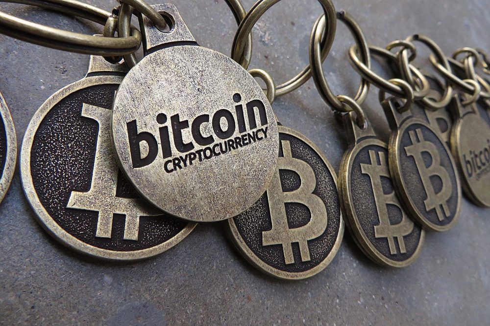 A chain of Bitcoin keychains. (BTC Keychain/Flickr)