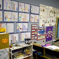 The wall of a U.S. kindergarten classroom. (woodleywonderworks/Flickr)