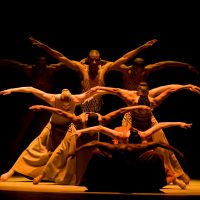 "The Alvin Ailey troupe in ""Revelations."" (Courtesy Nan Melville)"