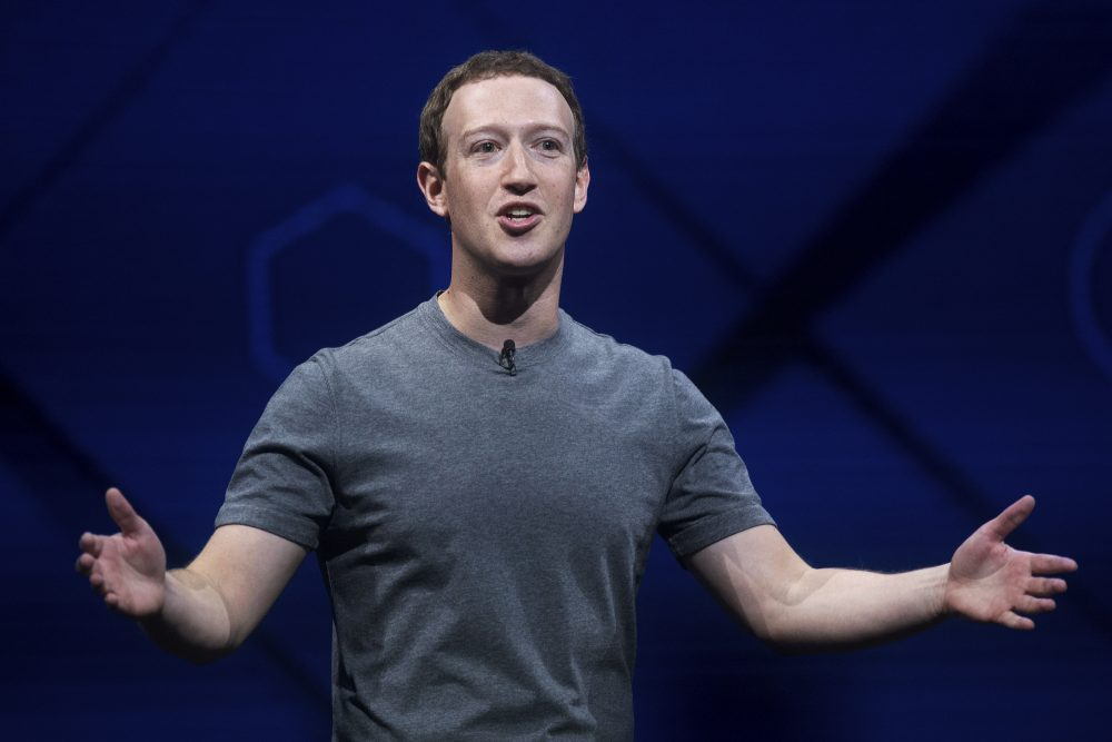Facebook CEO Mark Zuckerberg speaks at his company's annual F8 developer conference, Tuesday, April 18, 2017, in San Jose, Calif. (AP Photo/Noah Berger)