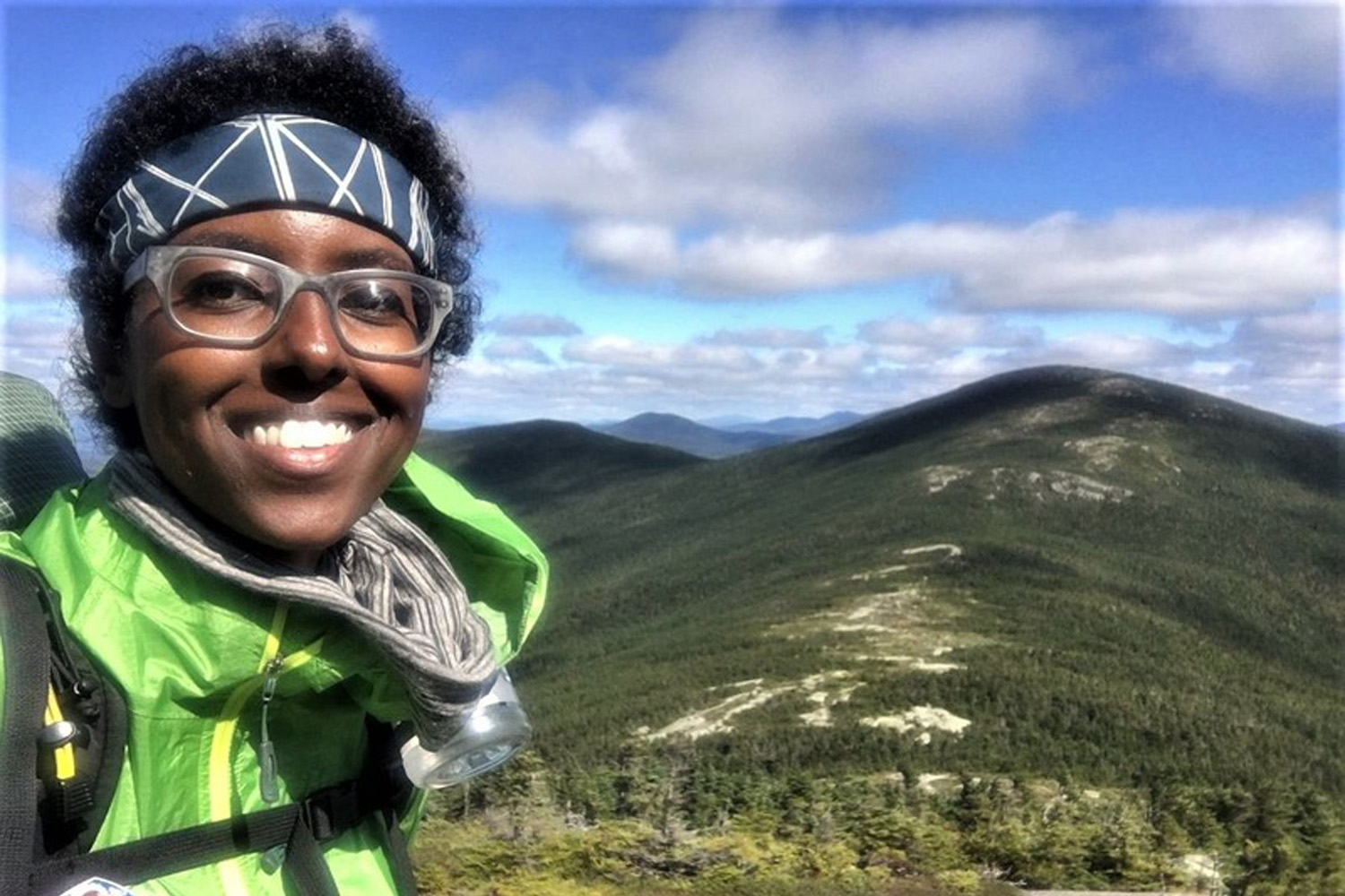 Rahawa Haile on the Appalachian Trail. (Courtesy Rahawa Haile)