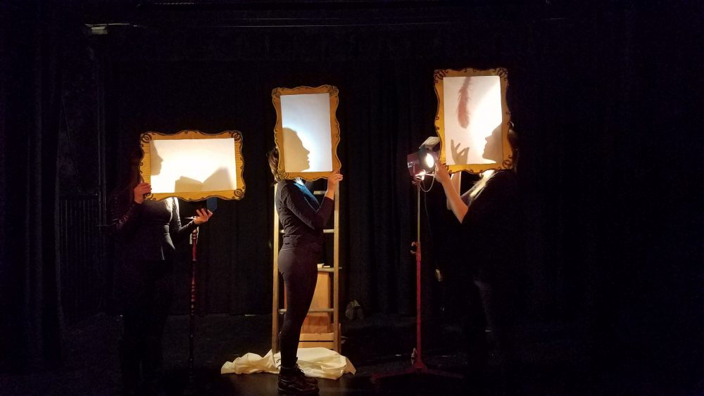 "Libby Schap and Caitlin Brzezinski's shadow puppet show ""Flying Lessons."" (Courtesy Darren Evans)"