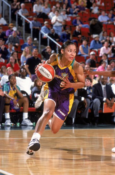 The Los Angeles Sparks drafted Allison Feaster with the No. 5 pick in the 1998 WNBA draft. (Otto Greule Jr. /Allsport/Getty Images)