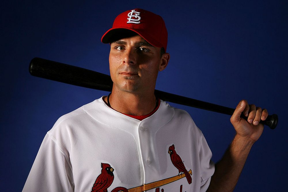 After losing his ability to throw strikes, Rick Ankiel retired from pitching. Then he made it back to the big leagues...as an outfielder. (Doug Benc/Getty Images)