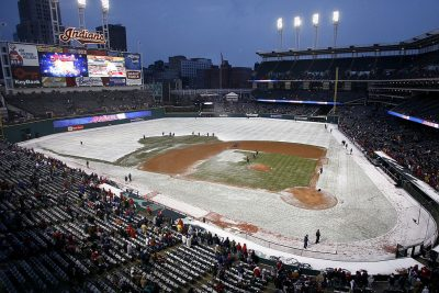 The long MLB season features plenty of weather changes.  (Gregory Shamus/Getty Images)
