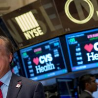 CVS Health President and CEO Larry J. Merlo gives an interview on the floor of the New York Stock Exchange in 2014. (Courtesy CVS Health)