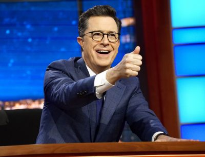 "Stephen Colbert, host of ""The Late Show with Stephen Colbert,"" appears during a taping of his show in New York in March. (Richard Boeth/CBS via AP)"