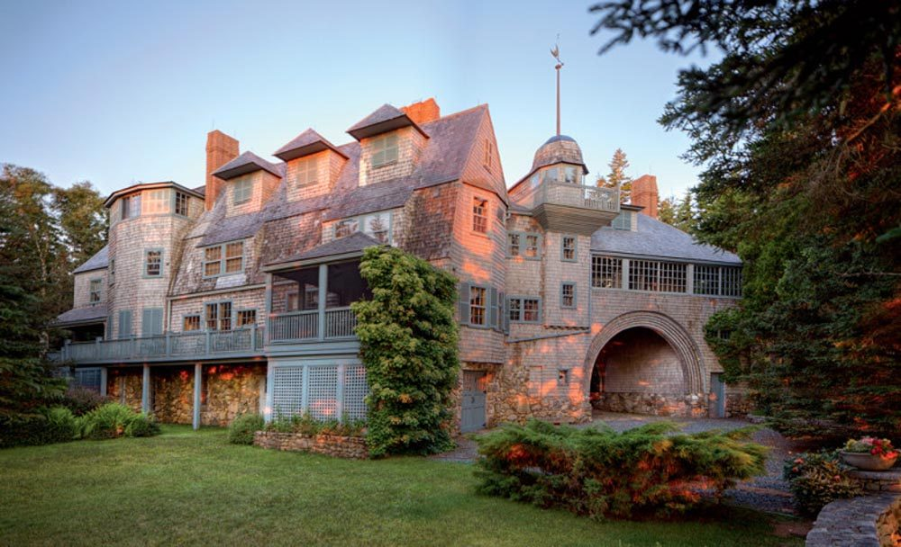 Author Jane Goodrich fell in love with the original Kragsyde home, built on the coast of Manchester-by-the-Sea in the late 1800s, at 12 years old. When she found out it had been torn down she decided to rebuild it on the Maine coast. That version of the Kragsyde home is pictured here. (Bret Morgan)