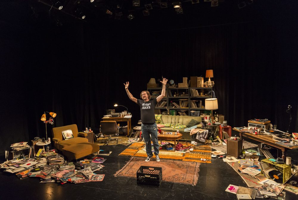 "Erik Jensen plays Lester Bangs in """"How to Be a Rock Critic."""" (Courtesy Craig Schwartz/ArtsEmerson)"