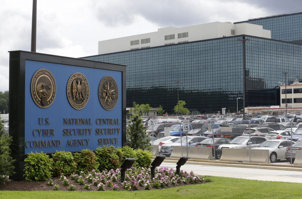 "Tom Keane: ""Even if we say only the good guys will have access to the back doors, eventually the bad guys get in too."" Pictured: The National Security Agency campus in Fort Meade, Md. (Patrick Semansky/AP)"