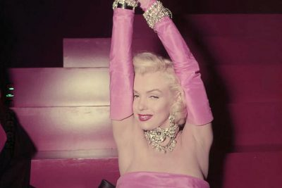 "Actress Marilyn Monroe in a publicity shot for the 1953 musical, ""Gentlemen Prefer Blondes."" (Via WikiCommons)"