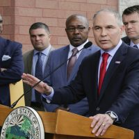 Environmental Protection Agency Administrator Scott Pruitt speaks at a news conference Wednesday, April 19, 2017, in East Chicago, Ind. (Teresa Crawford/AP)