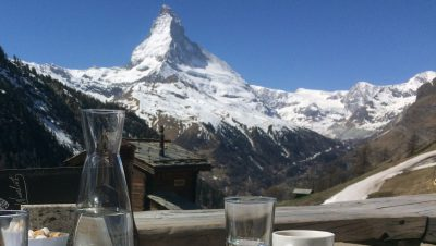 A view of the Matterhorn over a meal. (Courtesy of Daniel Osborn)