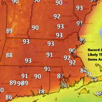Look for hot and humid air for Thursday as we reach 90 for the first time this season. (Dave Epstein/WBUR)