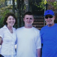 Patrick Graney (center) with his parents. (Courtesy Graney family via STAT)