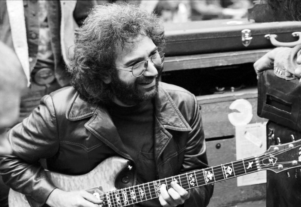 Jerry Garcia backstage before a Grateful Dead concert in Golden Gate Park. (Courtesy Amazon Prime Video)