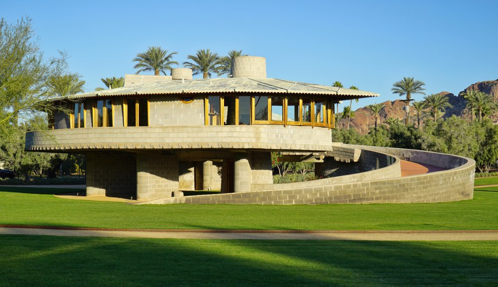The David and Gladys Wright House in Phoenix, built in 1952. (Courtesy)