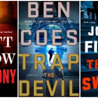 "Book covers of ""Testimony,"" ""Trap the Devil"" and ""The Switch."""