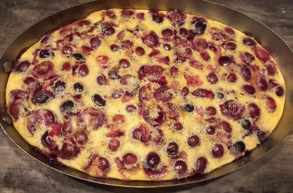 Kathy's cherry and ginger clafoutis. (Kathy Gunst for Here & Now)