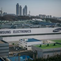 Samsung Electronic's semiconductor factory on March 2, 2017, in Hwaseong, South Korea. (Jean Chung/Getty Images)