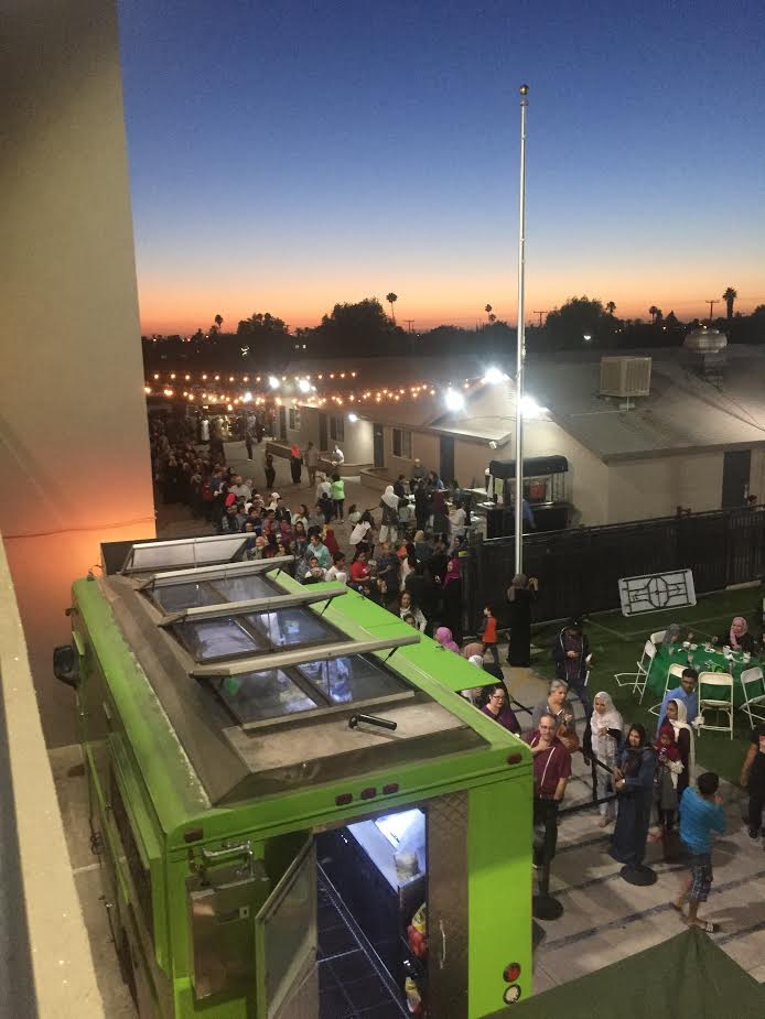 A view of a Taco Trucks At Every Mosque event at the Islamic Society of Orange County. (Courtesy)