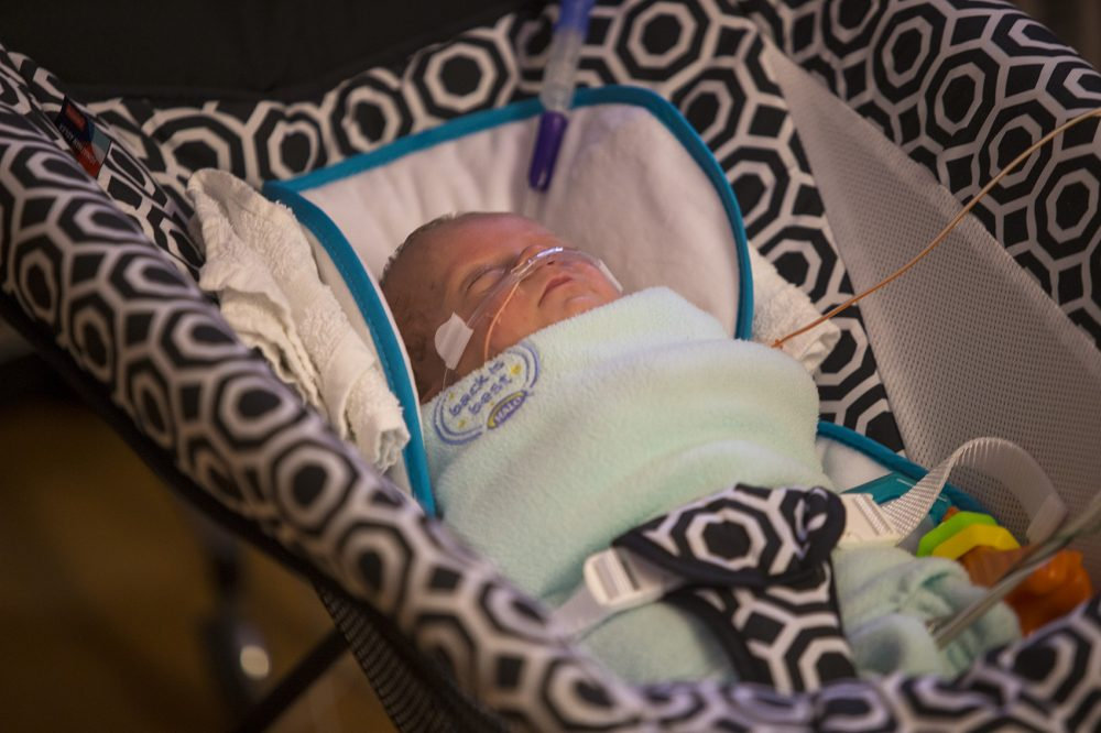 Sixty percent of babies in Tufts Medical Center's NICU are covered by Medicaid. (Jesse Costa/WBUR)