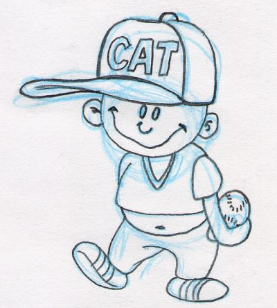 Mark Peyser's first sketch of Pablo Sanchez. (Courtesy Mark Peyser)