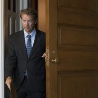 Sen. Rand Paul, R-Ky., leaves a closed-door meeting where Senate Majority Leader Mitch McConnell, R-Ky., announced the release of the Republican health care bill, the party's long-awaited attempt to scuttle much of President Obama's Affordable Care Act, at the Capitol in Washington, Thursday, June 22, 2017. (J. Scott Applewhite/AP)