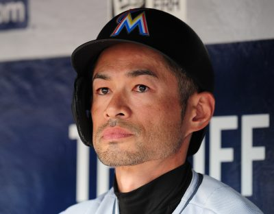 Ichiro Suzuki became the oldest major leaguer to start a game in center field since 1900. (Scott Cunningham/Getty Images)