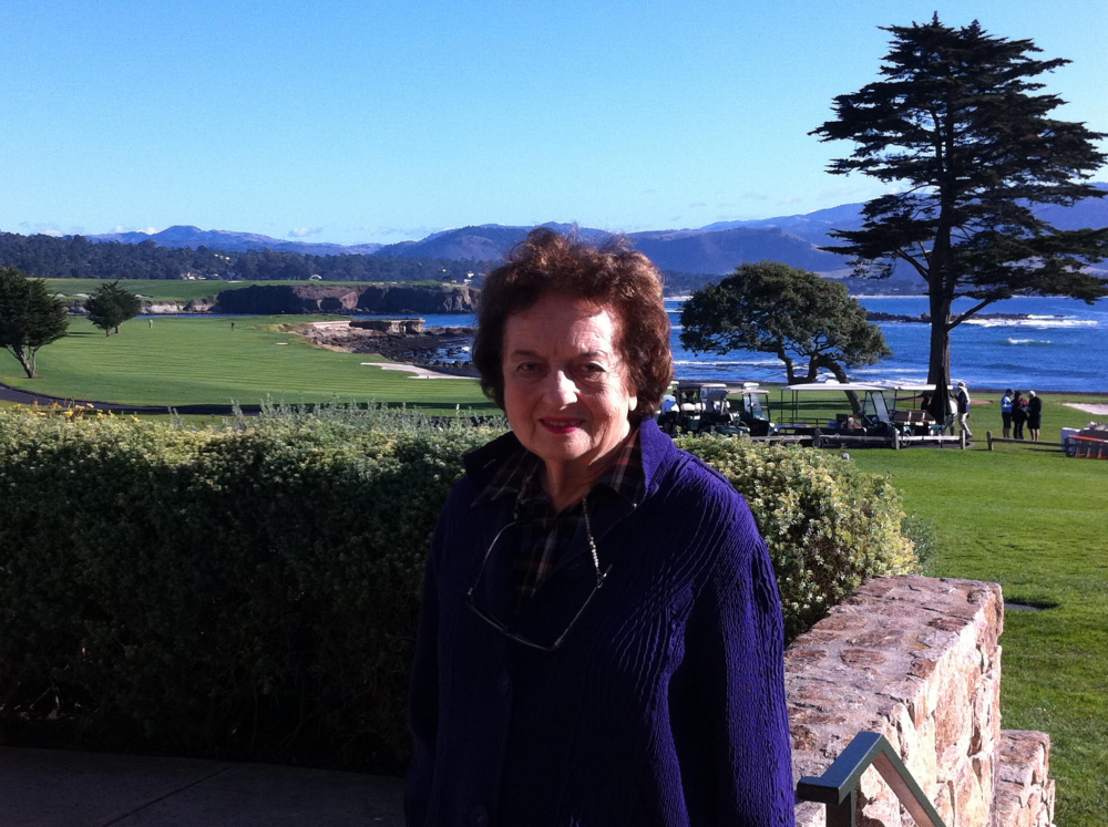 The author's mother in California. (Courtesy Irene Sege)