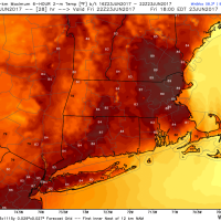Temperatures reach well into the 80s later Friday. (Courtesy WeatherBell)