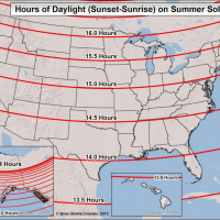 The summer solstice marks the longest day of the year in the northern hemisphere. (Courtesy Brian Brettschneider)